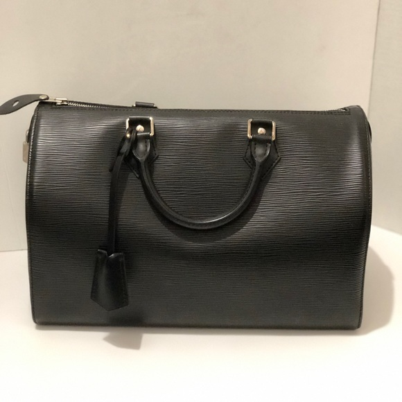 c19a8c251006 Louis Vuitton Handbags - Louis Vuitton Black Epi Speedy 30